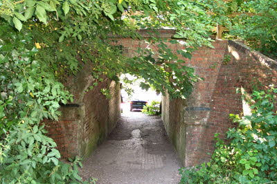 Through the tunnel, to the car, or walk along the route that Keates took into Winchester.